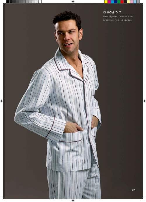 pijama clásico de rayas