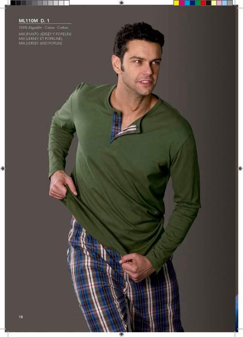 pijama verde con pantalon de cuadros