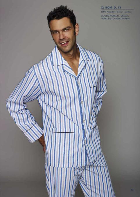 Pijama clasico de rayas