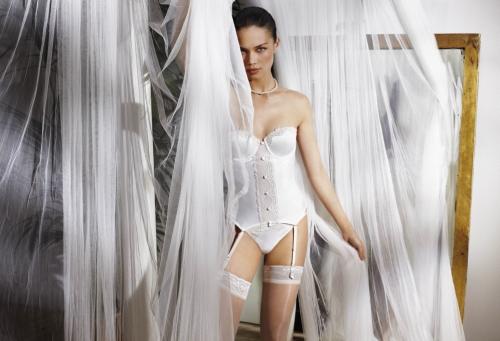 corpiño marfil de novia