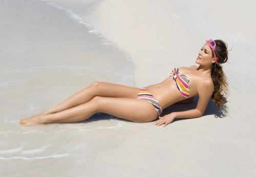 bikini de rayas de la colección la colorista de Antigel