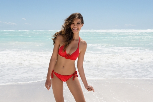 precioso bikini rojo de la coleccion baño 2013 de Antigel