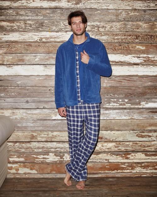 pijama_chaqueta_azul-pantalon_cuadros