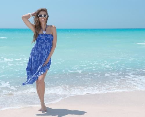 la caraibe girl_vestido_azul