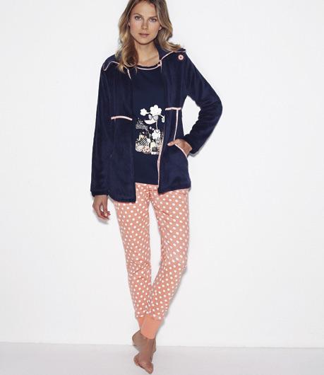 conjunto_3 piezas_pijama_bata_perrita_promise