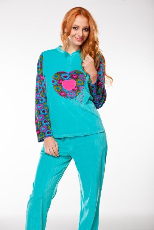 pijama_chica_turquesa_corazones