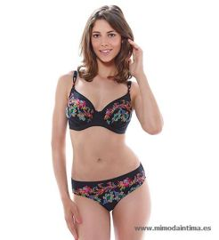 ELBA-BLACK-UW-GATHERED-FULL-CUP-BIKINI-TOP-FS6098-MID-RISE-BRIEF-FS6100-F